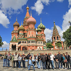 Anniversary Tour Berlin-Moscow, group picture, Red Square