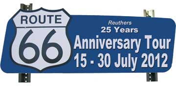 Reuthers Anniversary Tour Route 66