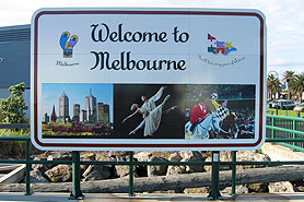 Australia Welcome to Melbourne