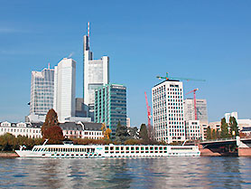 Skyline and River Rhine, Frankfurt