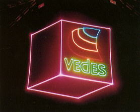 Lasershow - company logo for VEDES