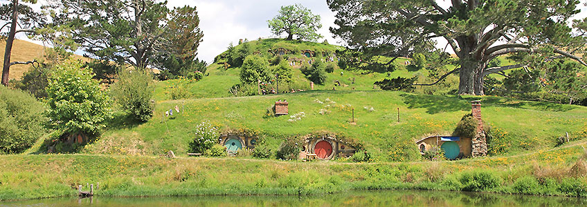 Hobbiton, the original locations of the Lord of the Rings films