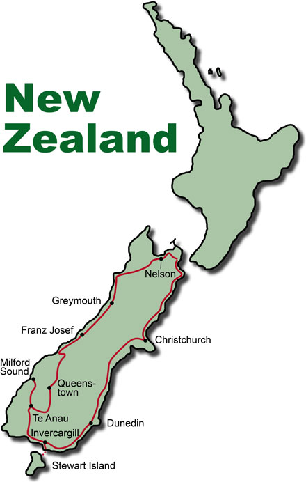 New Zealand Rental Car Tour Southern