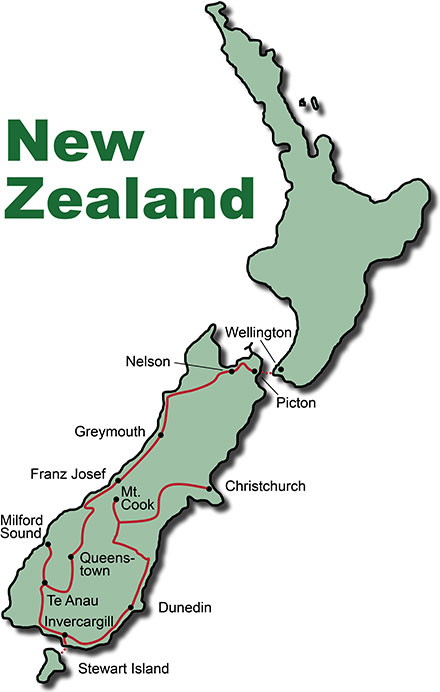 Bus Tour New Zealand Southern