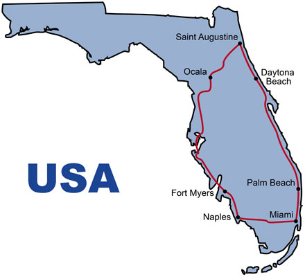 Florida Bus Reise 8 Tage North