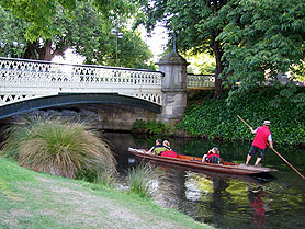 Neuseeland, Christchurch Avon River