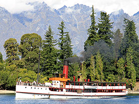 TSS Earnslaw, Lake Wakatipu, Queenstown, Neuseeland