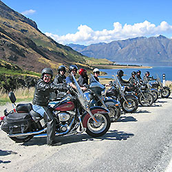 Guided Motorcycle Tour New Zealand Paradise