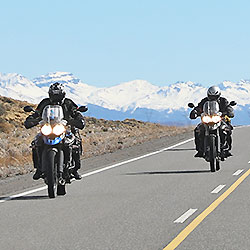 Semi Guided Motorcycle Tour Patagonia South America