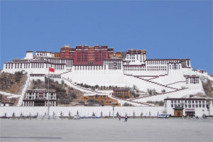 The Potala - former palace of the Dalai Lama