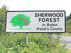 Robin Hood's Sherwood Forest, Nottingham
