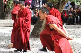 Monks, Sena Monastery, Tibet