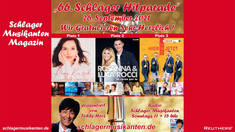 66. Schlager Hitparade auf Radio Schlager Musikanten