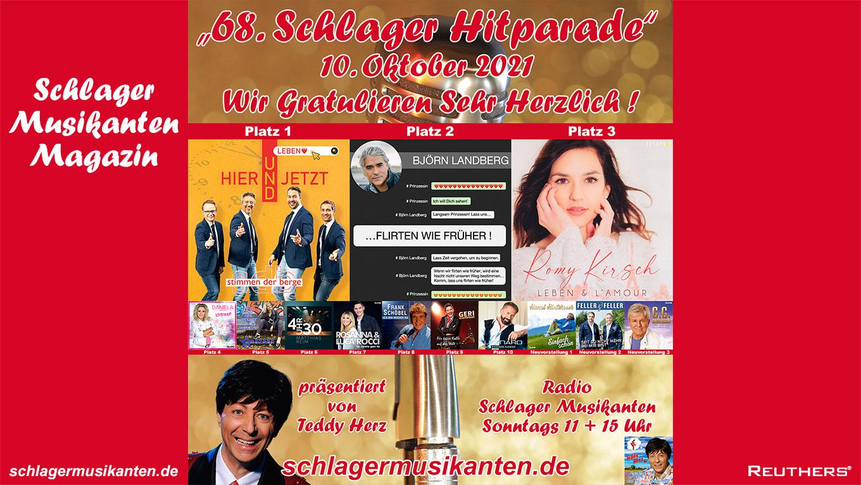 68. Schlager Hitparade auf Radio Schlager Musikanten - Top 10