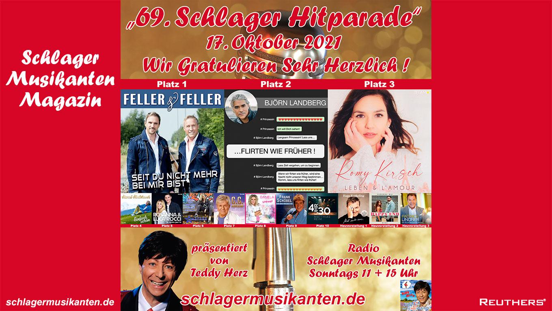 69. Schlager Hitparade auf Radio Schlager Musikanten - Top 10