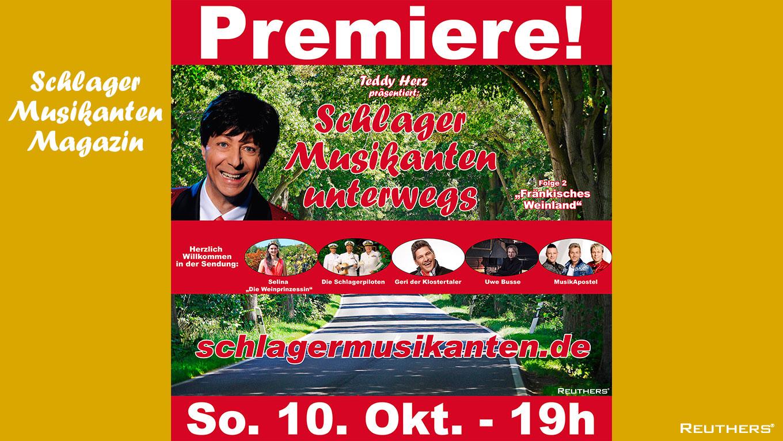 """TV-Premiere """"Schlager Musikanten unterwegs""""aus dem Fränkischen Weinland"""